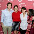 """Cobie Smulders, Anders Holm, Kris Swanberg et Gail Bean défendent """"Unexpected"""" au Festival du Film de Sundance à Park City, le 25 janvier 2014."""