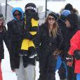 Mariah Carey en vacances avec ses enfants Monroe et Moroccan à Aspen, le 30 décembre 2014.