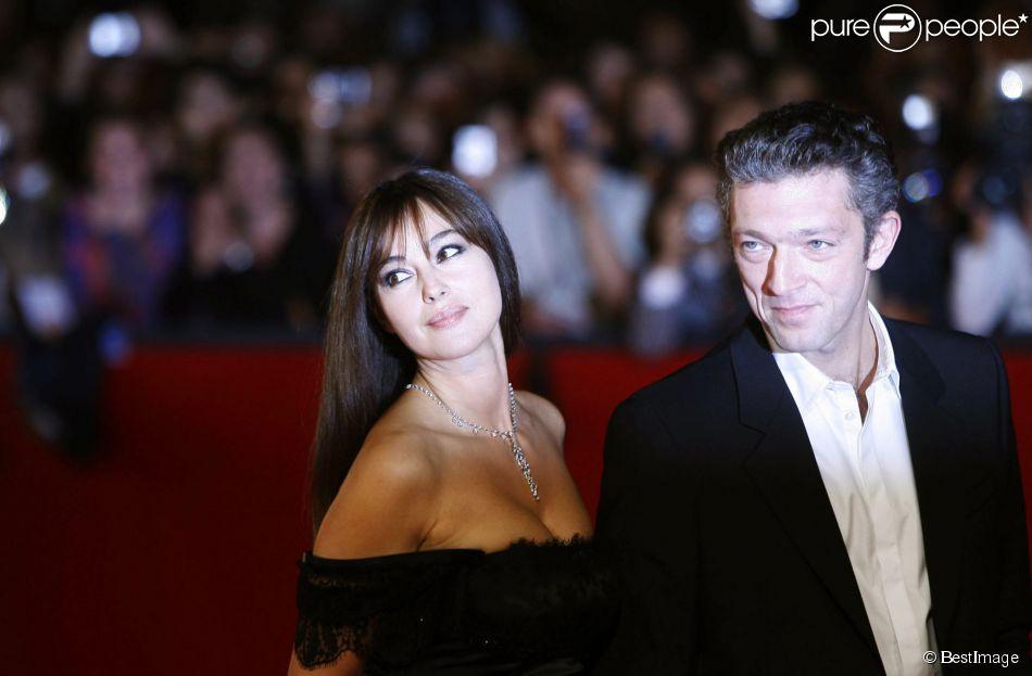 Monica Bellucci et Vincent Cassel à Rome le 23 octobre 2010.