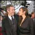 Monica Bellucci et Vincent Cassel tendres amoureux à Paris le 12 octobre 2008.