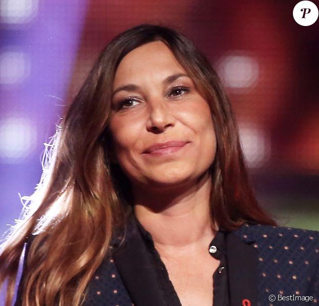 Exclusif - Zazie, lors de l'enregistrement de l'émission Alors on chante, au Palais des Sports à Paris, le 28 novembre 2014.