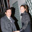 Leonardo (Leonardo Nascimento de Araújo) et sa femme Anna Billo, à la fête d'anniversaire organisée à l'occasion des 60 ans de Nicolas Sarkozy à son domicile à Paris, le 30 janvier 2015.
