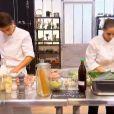 Vanessa et Jean-Baptiste dans Top Chef 2015 sur M6, le lundi 2 février 2015.