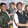 Neil Patrick Harris, son compagnon David Burtka, leur fils Gideon et leur fille Harper venues voir le spectacle Totem du Cirque du Soleil sous le Grand Chapiteau au Santa Monica Pier, a Santa Monica, le 21 janvier 2014.