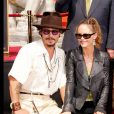 Johnny Depp et Vanessa Paradis à Hollywood le 16 septembre 2005.