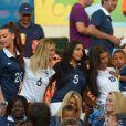 Fiona Cabaye, la compagne de Loïc Rémy, Mazda Magui, Ludivine Sagna, Sandra Evra, lors du match entre la France et l'Equateur au Maracana de Rio de Janeiro ,le 25 juin 2014