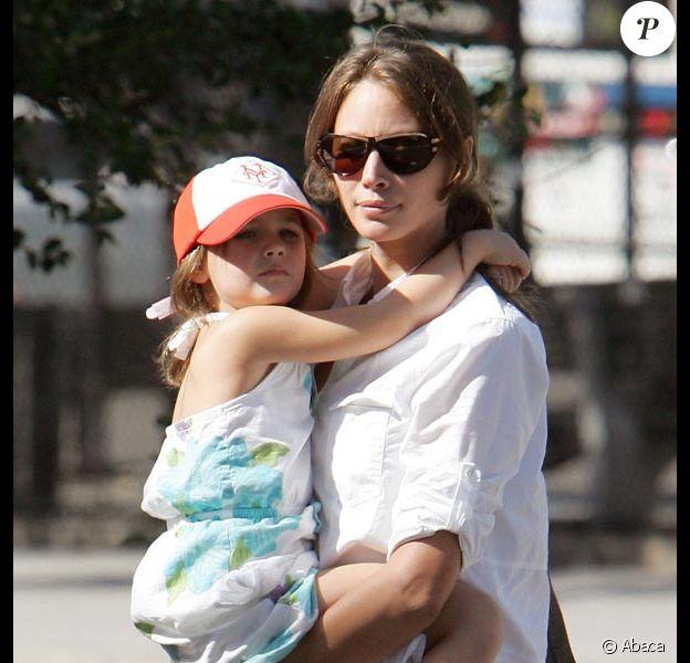 Christy Turlington et sa fille Grace... direction l'école !