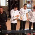 """Xavier qualifie d'office l'équipe de Michel Sarran : """"C'est fou ce qui m'arrive !"""" - Top Chef 2015 sur M6, le 16 février 2015."""