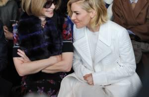 Fashion Week : Sienna Miller, angélique au défilé Calvin Klein