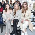 Laura Love, Harley Viera-Newton et Chiara Ferragni assistent au défilé Calvin Klein automne-hiver 2015-2016, aux Spring Studios. New York, le 19 février 2015.