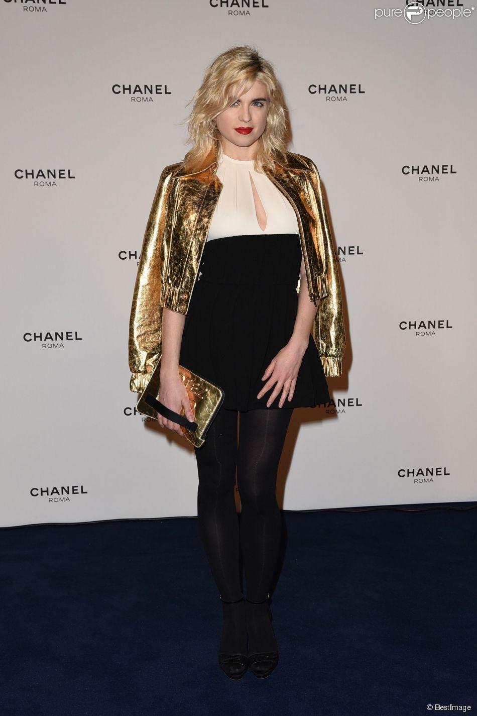Cécile Cassel - People à la soirée pour l'ouverture de la boutique Chanel à Rome le 19 février 2015