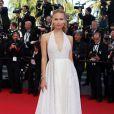 Natasha Poly sur les marches du 67e Festival de Cannes. Le 24 mai 2014.