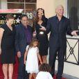 Vin Diesel, sa compagne Paloma Jimenez avec leurs enfants Hania Riley et Vincent lorsqu'il dévoile son étoile sur le Walk of Fame à Hollywood le 26 août 2013