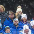 Prince Carl Philip de Suède - La famille royale suédoise et la famille royale norvégienne assistent aux championnats du monde de ski nordique à Falun en Suède, le 27 février 2015.