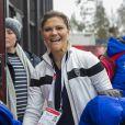 La princesse Victoria de Suède - La famille royale suédoise et la famille royale norvégienne assistent aux Championnats du monde de ski nordique de la FIS à Falun le 27 février 2015
