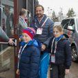 Le prince Haakon de Norvège et la princesse Ingrid Alexandra et le prince Sverre Magnus - La famille royale suédoise et la famille royale norvégienne assistent aux Championnats du monde de ski nordique de la FIS à Falun le 27 février 2015