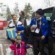 La princesse Victoria de Suède, le prince Daniel et la princesse Estelle - La famille royale suédoise et la famille royale norvégienne assistent aux Championnats du monde de ski nordique de la FIS à Falun le 27 février 2015