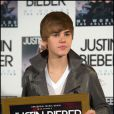 Justin Bieber pour la sortie du disque My Worlds, le 29 novembre 2010 à Madrid