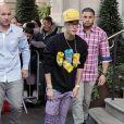 Justin Bieber quitte son hôtel à Londres Le 27 février 2013