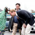 Le prince William à Ishinomaki, ville dévastée par le tsunami de 2011, le 1er mars 2015, dernière étape de sa visite officielle au Japon.