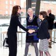La princesse Mary de Danemark prenait part le 2 mars 2015 à une conférence de presse de sa fondation pour le lancement d'un nouveau programme en faveur de la lecture.