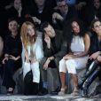 Joséphine de La Baume, Mark Ronson, Solange Knowles et Noomi Rapace assistent au défilé H&M Studio automne-hiver 2015-2016 au Grand Palais. Paris, le 4 mars 2015.