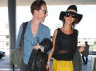 Benedict Cumberbatch et sa belle, enceinte : Retour radieux de lune de miel