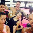 Adriana Lima et ses amis à la boxe dont son petit ami très tatoué