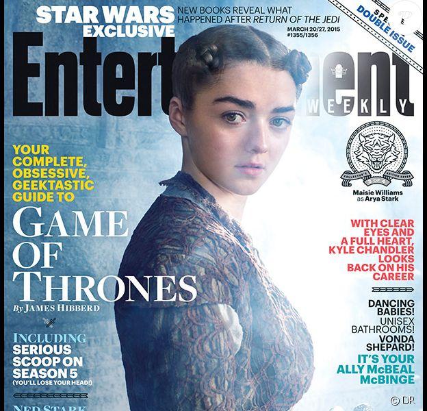 La couverture d'Entertainment Weekly avec Maisie Williams (Arya Stark)