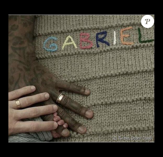 Djibril Cissé annonce la naissance de son fils Gabriel sur son compte Twitter le 12 mars 2015