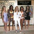Heidi Klum arrive au lancement de sa ligne de lingerie à Londres le 14 mars 2015