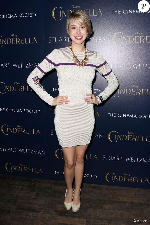 Jazmin Grace Grimaldi à l'avant-première de Cendrillon au Tribeca Grand Hotel à New York le 8 mars 2015.