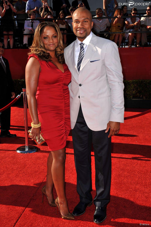 Derek Fisher et son épouse Candace lors des ESPY Awards au Nokia Theatre de Los Angeles, le 14 juillet 2010