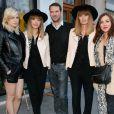 Exclusif - Hollysiz (Cécile Cassel), Brigitte (Sylvie Hoarau et Aurélie Saada), Sébastien Costamagna (organisateur du festival), Olivia Ruiz - Les artistes se mobilisent pour sauver le festival LE MAS lors du tournage d'un clip au restaurant Les Niçois à Paris le 11 mars 2015.