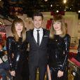 Les Brigitte (Sylvie Hoarau et Aurélie Saada) et Vincent Niclo participent à l'enregistrement de l'émission  Vivement Dimanche  à Paris, le 18 mars 2015 (diffusion le dimanche 22 mars).