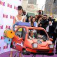 Rihanna avec sa nièce Majesty à la première du film En route! au Regency Village Theatre de Westwood, Los Angeles, le 22 mars 2015.