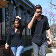 Kourtney Kardashian et Scott Disick à Calabasas, Los Angeles, le 13 mars 2015.