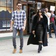 Scott Disick et Kim Kardashian à Woodland Hills, Los Angeles, le 30 janvier 2015.