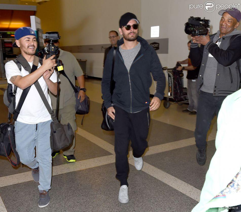 Scott Disick à l'aéroport de Los Angeles, le 25 février 2015.