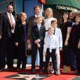 Viveca Paulin, Mattias Paulin Ferrell, Magnus Paulin Ferrell et Axel Paulin Ferrell - Cérémonie de remise de l'étoile à Will Ferrell sur le Hollywood Walk of Fame le 24 mars 2015 à Los Angeles