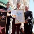 Le maire de L.A, Eric Garcetti et Tom LaBonge - Cérémonie de remise de l'étoile à Will Ferrell sur le Hollywood Walk of Fame le 24 mars 2015 à Los Angeles
