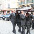 Les obsèques d'Alexis Vastine en l'église Saint-Ouen à Pont-Audemer le 25 mars 2015