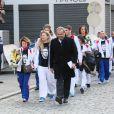 Les membres de l'Insep et de l'équipe de France de boxe étaient venus rendre un dernier hommages à Alexis Vastine lors de ses obsèques en l'église Saint-Ouen à Pont-Audemer le 25 mars 2015