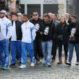 Les membres de l'Insep, de l'équipe de France de boxe et de clubs de boxe locaux étaient venus rendre un dernier hommages à Alexis Vastine lors de ses obsèques en l'église Saint-Ouen à Pont-Audemer le 25 mars 2015
