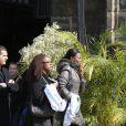 Muriel Hurtis lors des obsèques d'Alexis Vastine en l'église Saint-Ouen à Pont-Audemer le 25 mars 2015