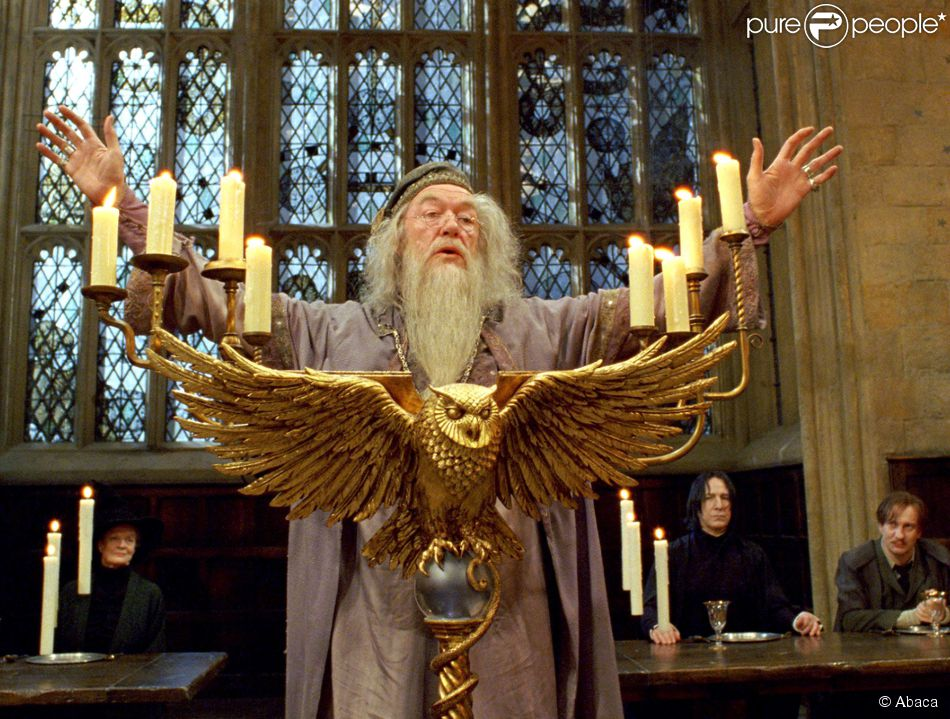 Michael Gambon dans Harry Potter and the Prisoner of Azkaban en 2004.