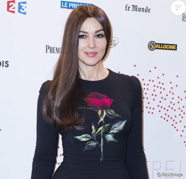 """Monica Bellucci - Inauguration de l'exposition """"Lumière! Le cinéma inventé!"""" au Grand Palais à Paris, le 26 mars 2015."""