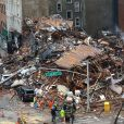 Effondrement de plusieurs immeubles à la suite d'un incendie à New York le 27 mars 2015.