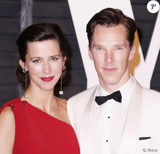 Benedict Cumberbatch et Sophie Hunter à la soirée Vainty Fair après la cérémonie des Oscars, le 22 février 2015 à Los Angeles.