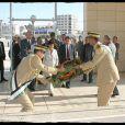 Rachida Dati dépose une gerbe su mausolée de Yasser Arafat